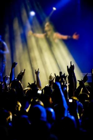 distort: una silueta de un rockero en vivo