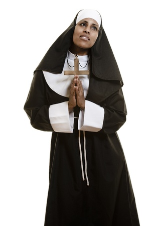 a portrait of an african nun photo
