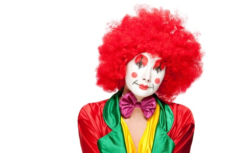 a female clown with colorful clothes and makeup Stock Photo - 11094985