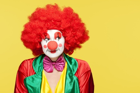 a female clown with colorful clothes and makeup Stock Photo - 11218589
