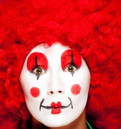 Un payaso mujer con ropas coloridas y maquillaje Foto de archivo - 11218671