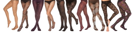 stockings feet: a collection of female legs in various poses