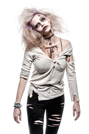 a scary undead zombie girl Stock Photo - 20528529