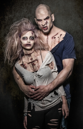 possessed: a bloody pair of scary evil zombies