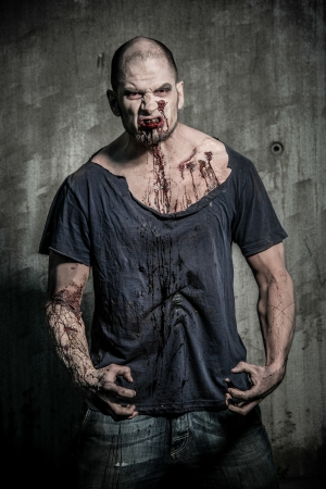 a scary and bloody zombie man Stock Photo - 20528858