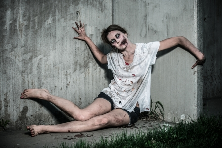 undead: a scary undead zombie girl