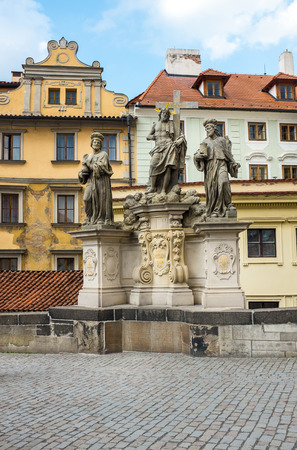 Statues in Prague city center Stock Photo
