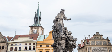 statues in old town of Prague, Chech republic