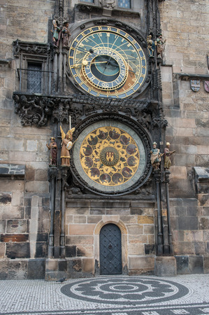 The famous astronomical Clock. in Prague, Czech Republic