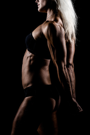 a very fit female athelete