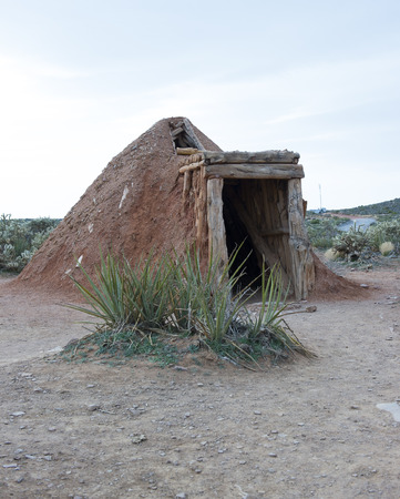 Navajo sweat lodge to clean the mind of evil  and spirits Stok Fotoğraf
