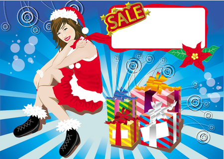 chrismas: chrismas sale woman Stock Photo