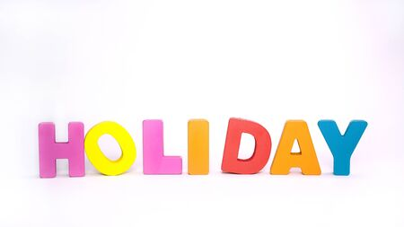 HOLIDAY  Colorful Letter Wood