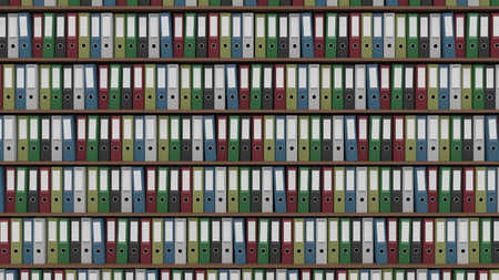 binders: Rows of multicolored office binders Stock Photo