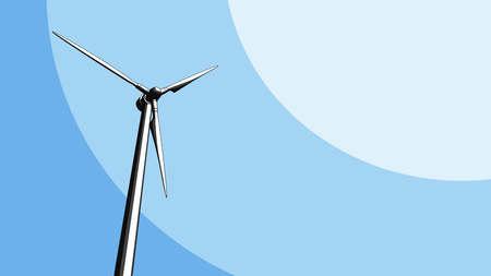 technologic: Generic wind turbine sketch. 3D CGI