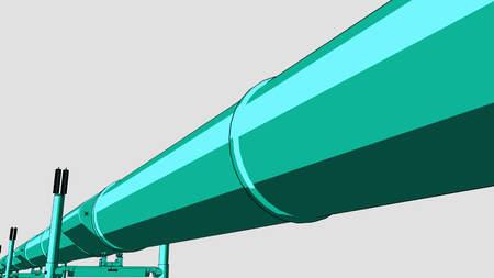 cian: Cartoon cian pipeline. CG 3D