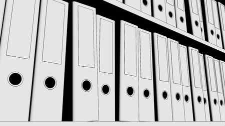 record office: Shelf full of office folders
