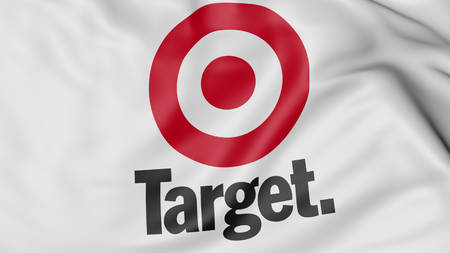 common target: Close up of waving flag with Target Corporation logo, United States