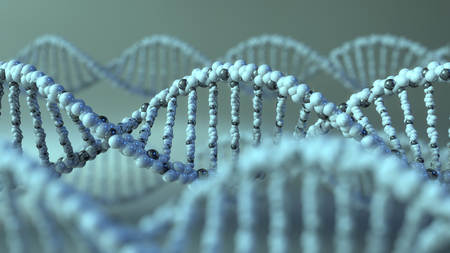 Spinning DNA molecules. Genetic research or modern medicine concepts Stock Photo