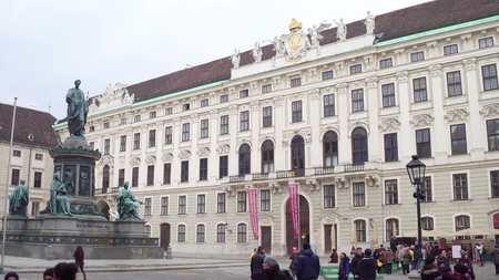 francis: VIENNA, AUSTRIA - DECEMBER, 24 Statue of Holy Roman Emperor Francis II at Hofburg palace