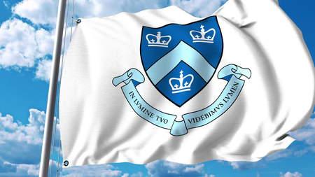 Waving flag with Columbia University emblem