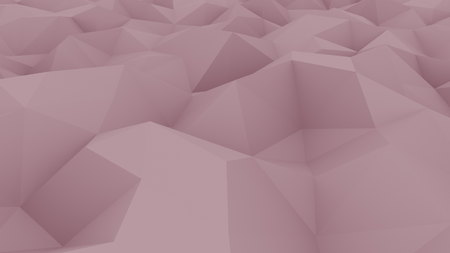 Edge and vertex pink polygonal background for reports and presentations. 3D rendering Banco de Imagens