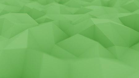 Surface verte polygonale abstraite, close-up de mise au point peu profonde. Rendu 3D Banque d'images - 82652158