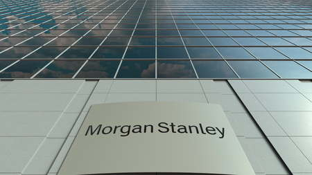 Laptop With Morgan Stanley Inc  Logo On The Screen  Modern