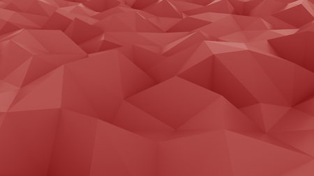 Smooth red polygonal background. 3D