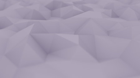 Abstract polygonal violet surface, shallow focus close-up. 3D rendering background