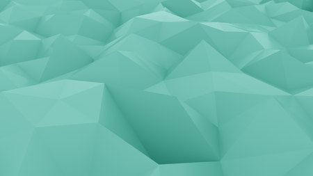 Abstract edge and vertex cyan background. 3D rendering Stock Photo