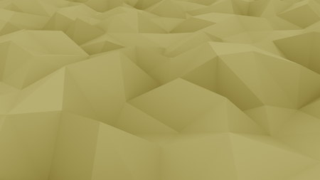 Polygonal yellow background. 3D rendering