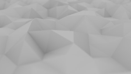 Polygonal light grey abstract background. 3D rendering