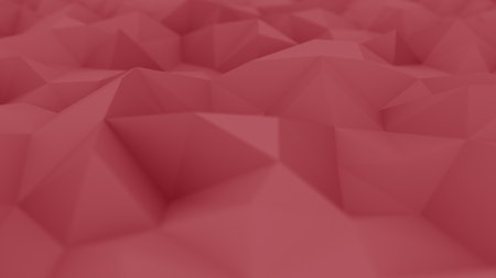 Red polygonal background, shallow focus. 3D rendering