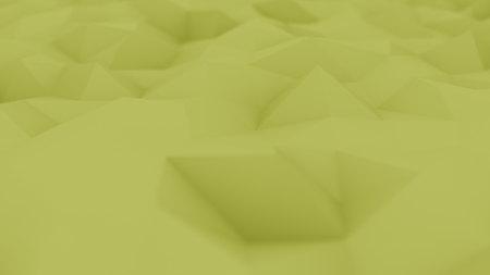 Polygonal yellow background, shallow focus. 3D rendering Banco de Imagens