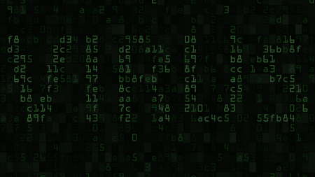 VIRUS word on the screen made of text and numeric symbols 版權商用圖片