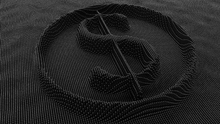金属製のピン アート ボード上米ドル記号。3 D レンダリング 写真素材 - 88717845