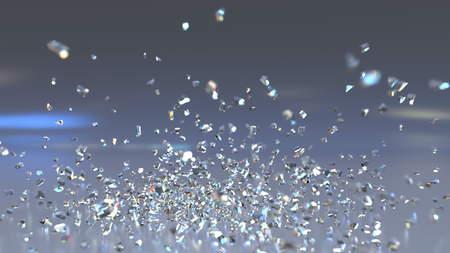 落下や飛散ガラスの作品。3 D レンダリング 写真素材