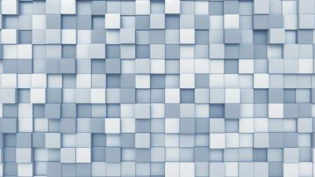 Light blue squares background, 3D rendering