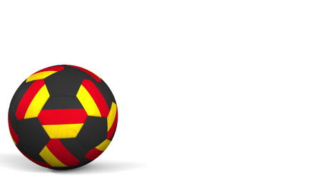 Football ball featuring flags of Germany. 3D rendering Фото со стока