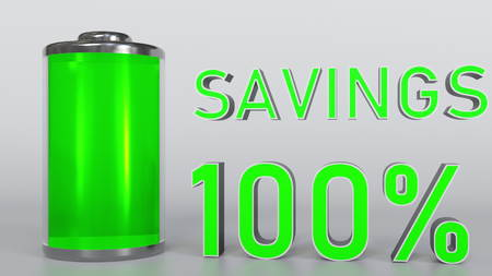 Increasing savings conceptual 3D rendering