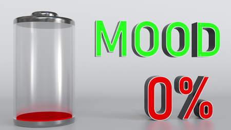 Dampening mood conceptual 3D rendering