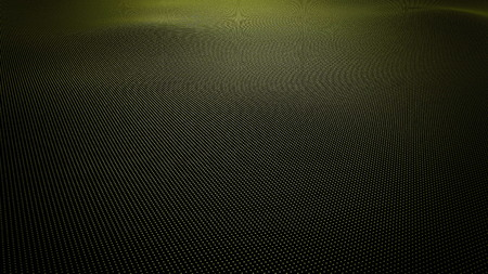 Yellow wavy surface made of balls