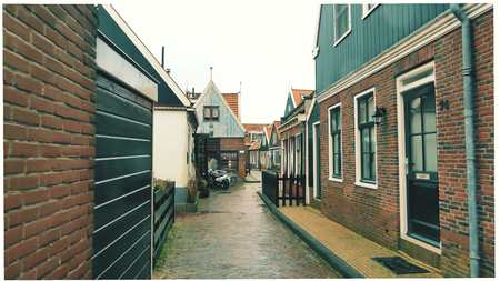 Traditional Dutch village, Netherlands Stock Photo