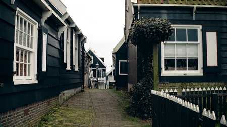 Walk in traditional Dutch village