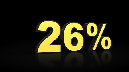 twenty-six 26 % percent 3D rendering