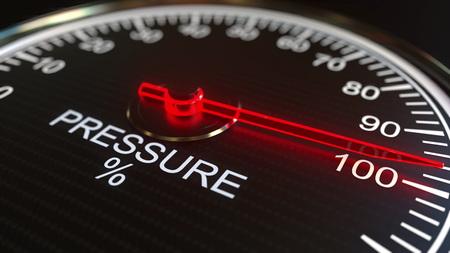 Pressure meter or indicator. 3D rendering 스톡 콘텐츠