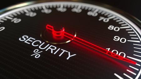 Security meter or indicator 3D rendering