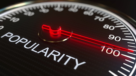 Popularity meter or indicator. 3D rendering 스톡 콘텐츠