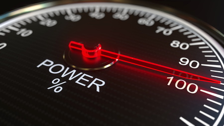 Power meter or indicator. 3D rendering